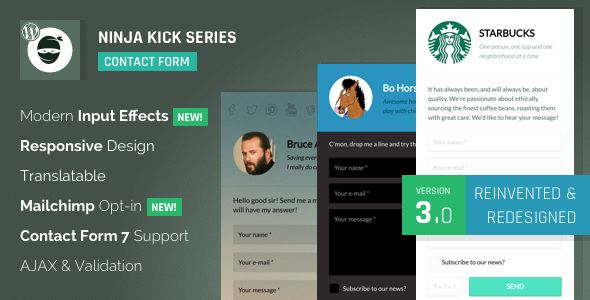 Ninja Kick: WordPress Contact Form v3.3.1