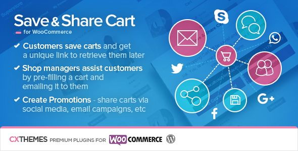 Save & Share Cart for WooCommerce v2.15