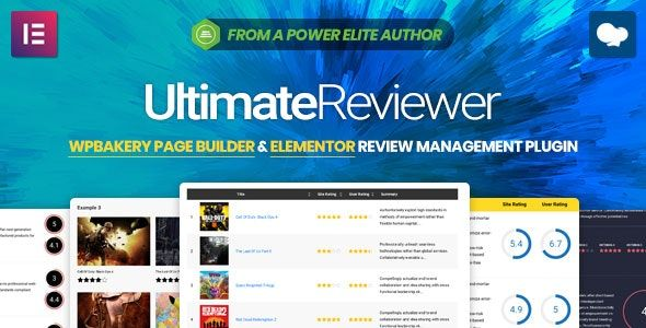 Ultimate Reviewer v2.5.2 – Elementor和WPBakery页面构建器组件