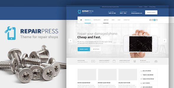 RepairPress v1.3.7 – GSM, Phone Repair Shop WP Theme
