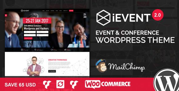 iEvent v2.0.1 – Event & Conference WordPress Theme