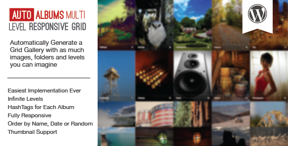 WP Auto Photo Albums v1.1 – Multi Level Image Grid