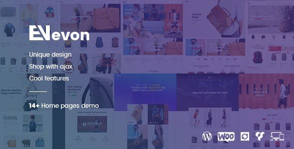 Evon v2.3 – 箱包商店WordPress WooCommerce电商主题