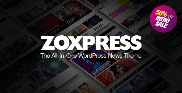 ZoxPress v1.06.0 – 多合一WordPress新闻主题