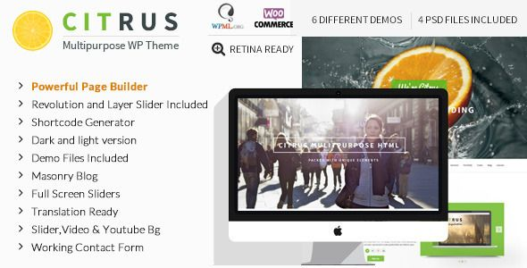 Citrus v2.1 – Creative One Page Multi-Purpose Theme