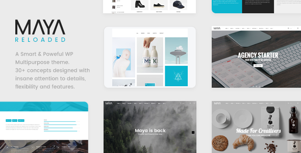 Maya v1.2 – Smart and Powerful WP Theme