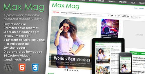 Max Mag v2.8.0 – Responsive WordPress Magazine Theme