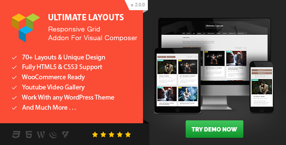 Ultimate Layouts v2.0 – Responsive Grid fo Visual Composer