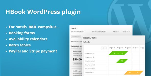 HBook v1.6.2 – Hotel booking system WordPress Plugin
