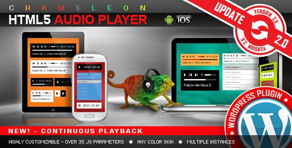 HTML5 Audio Player WordPress Plugin v2.9.3