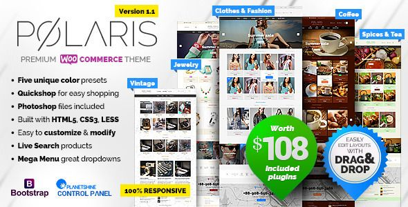 Polaris v1.1.23 – Minimal & Powerful Multipurpose Theme
