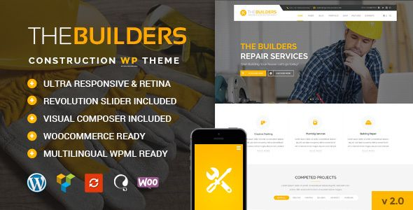 The Builders v1.0 – Construction WordPress Theme
