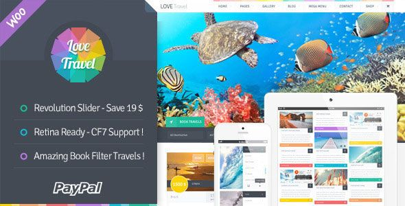 Love Travel v2.6.1 – Creative Travel Agency WordPress