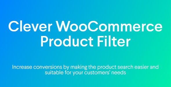 Clever WooCommerce Product Filter v1.0.0 – 产品过滤器