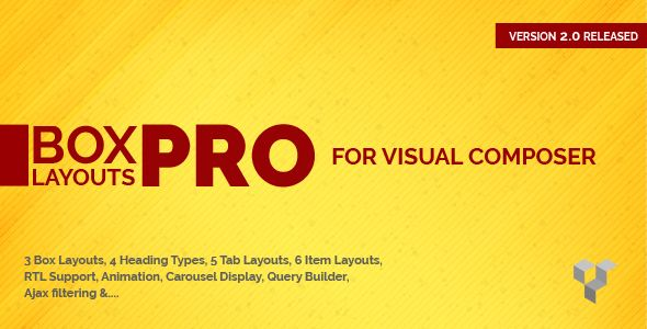 Pro Box Layout for Visual Composer v2.0