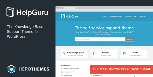 HelpGuru v1.6.2 – A Self-Service Knowledge Base WordPress Theme
