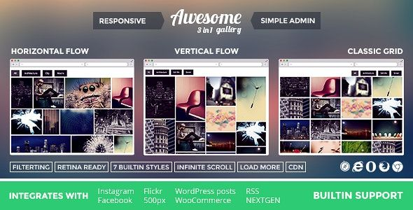 Awesome Gallery v2.1.1 – WordPress相册图集画廊插件