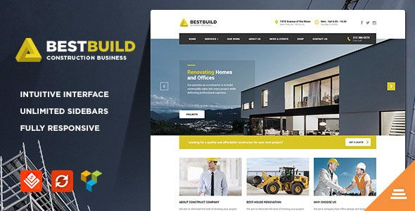 BestBuild 2.6.1 – Construction & Building WP Theme