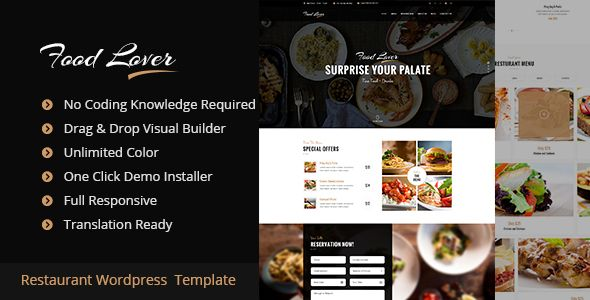 Food Lover v1.2.1 – Restaurant WordPress Theme