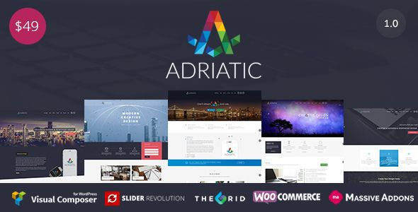 Adriatic v1.0.6 – Responsive Multi-Purpose Theme