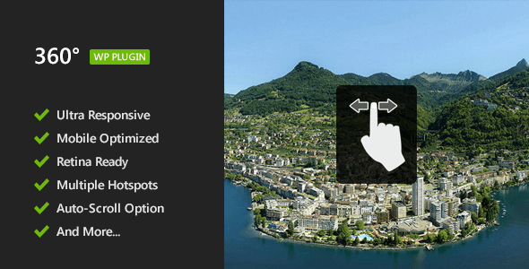 360° Panoramic Image Viewer v1.1.5 – Responsive WordPress Plugin