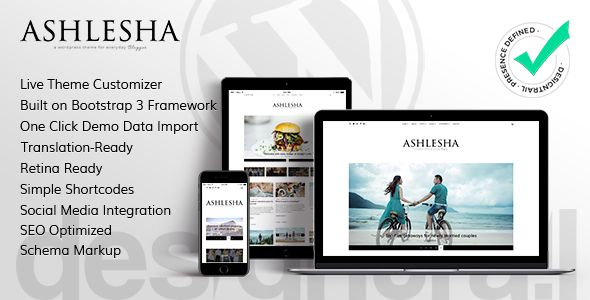 Ashlesha v1.0 – Blog WordPress Theme
