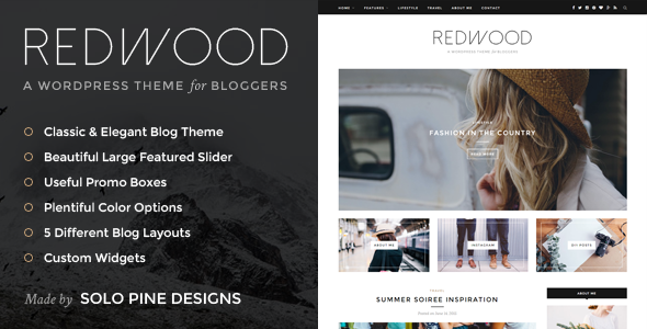 Redwood v1.2 – A Responsive WordPress Blog Theme