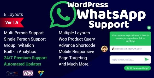 WordPress WhatsApp 客服支持 v1.9.2