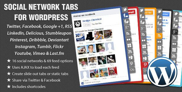 Social Network Tabs For WordPress v1.7.5