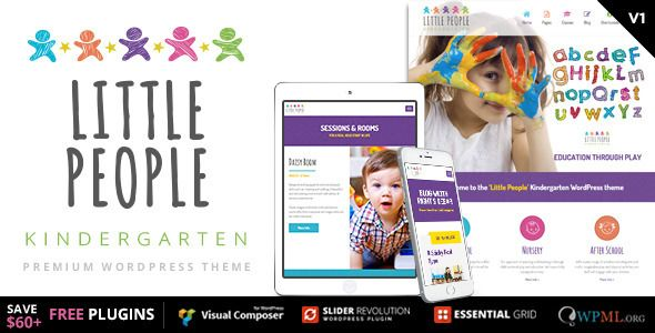 Little People v1.2.0 – Kindergarten WordPress Theme