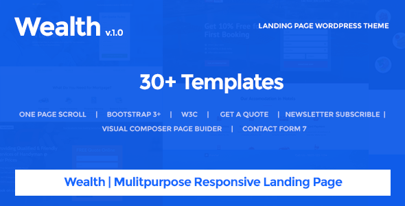 Wealth v1.2.2 – Multi-Purpose Landing Page WordPress Theme