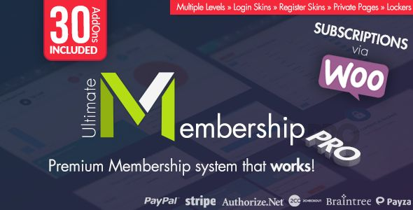 Ultimate Membership Pro WordPress Plugin v5.4