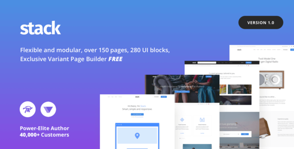 Stack – Multi-Purpose Theme with Variant Page Builder