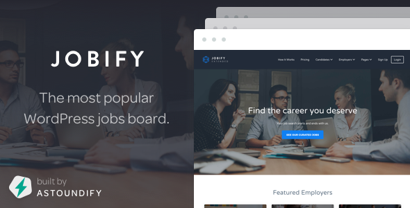 Jobify v3.5.0 – Themeforest WordPress Job Board Theme