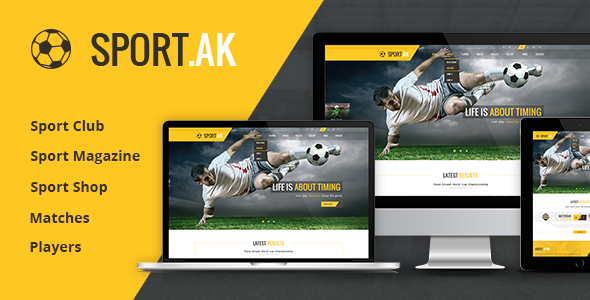 SportAK v1.21 – Sport WordPress Theme for Football