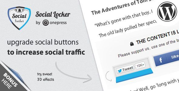Social Locker for WordPress v5.5.1 – 分享解锁插件