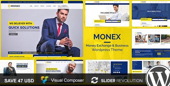 Monex v1.1 – Money Exchange & Finance Business Theme