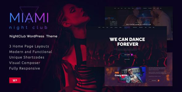 Miami v1.0.2 – Night Club Responsive WordPress Theme