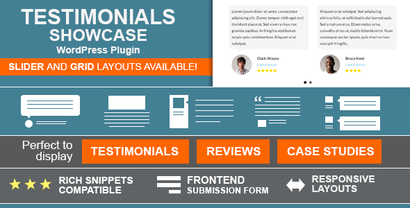 Testimonials Showcase v1.9.9.7 – WordPress评价展示插件