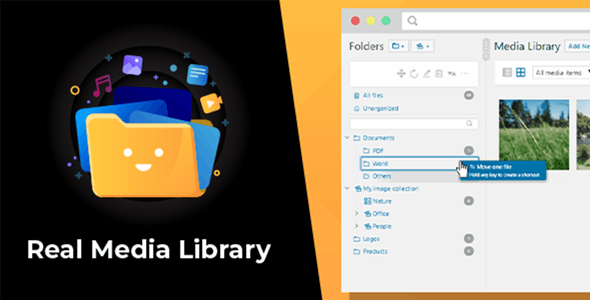 WordPress Real Media Library v4.7.5 – WP媒体文件夹/文件管理器
