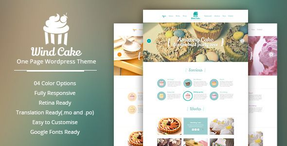 WindCake v1.2.6 – One Page WordPress Theme