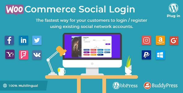 WooCommerce Social Login v2.2.0 – 社交登录插件