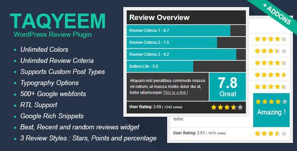 Taqyeem – WordPress Review Plugin v2.2.3