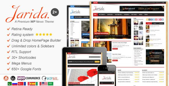 Jarida v2.4.5 – Responsive WordPress News, Magazine, Blog