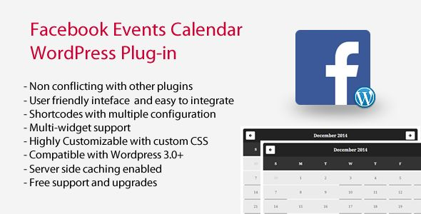 Facebook Events Calendar WordPress Plugin v4.9.6