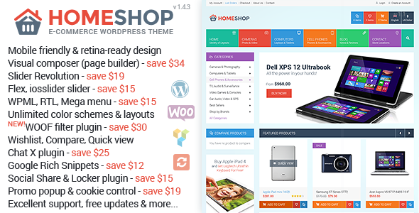 Home Shop v1.4.3 – WooCommerce Theme