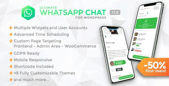 Ultimate WhatsApp Chat v1.1.0 – WordPress WhatsApp客服插件