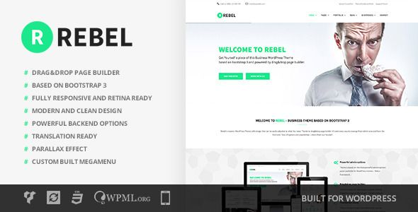 Rebel v2.2.3 – WordPress Business Bootstrap Theme