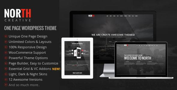 North v3.4.0 – One Page Parallax WordPress Theme