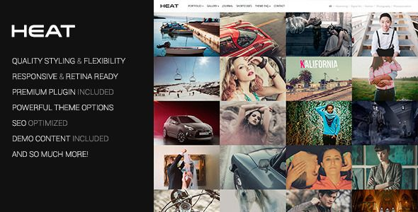 Heat v1.3.2 – Premium Portfolio WordPress Theme